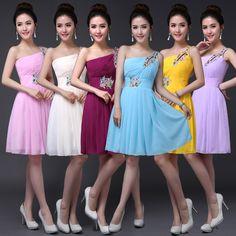 Fashion beautiful A new evening dress 2016 hot Formal dresses One-Shoulder dress long short inclined shoulder bag mail.