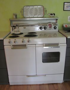 General Electric Ge 1950 S Stove Oven White Vintage