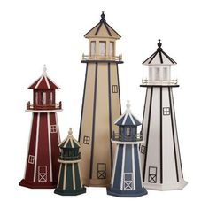 Amish-Made Poly Garden Lighthouse (195 AUD) ❤ liked on Polyvore featuring home and outdoors
