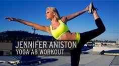 AMAZING ~ LOVE HER ~ GREAT AB WORKOUT!!!! Jennifer Aniston Yoga Ab Workout