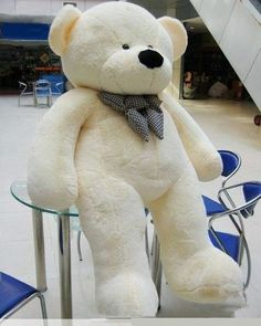 Joyfay 200 cm White Teddy Bear Giant Big Huge Stuffed Animal Plush Toy White or a medium color will do Huge Teddy Bears, Large Teddy Bear, Giant Teddy Bear, White Teddy Bear, Mein Style, Plush Animals, Pet Gifts, New Toys, Valentine Gifts