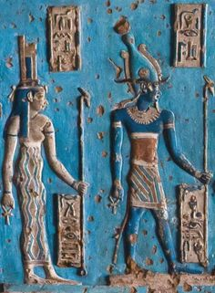 Isis and Osiris Isis and Osiris ancient Egypt religion, gods, priests and priestesses<br> Ancient Egypt Religion, Ancient Egypt Art, Old Egypt, Ancient Aliens, Ancient Artifacts, Ancient History, Architecture Antique, Art Sculpture, Egyptian Art
