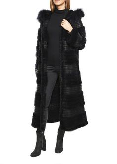 Jessimara Dark Navy Mink and Knitted Long Coat Fiery Red, Mink Fur, Dark Navy, Shop Now, Fur Coat, Clothing, Jackets, Shopping, Collection