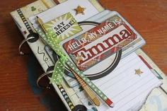 Tammy Tutterow Tutorial: school memories mini book.