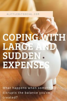It's oten a good idea to be frugal since it'll help you manage your finances, but what happens when something disrupts the balance you've created?