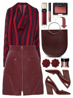 """""""Maroon"""" by cherieaustin ❤ liked on Polyvore featuring Future Glory Co., Youngblood, Clé de Peau Beauté, NARS Cosmetics and Uttermost"""