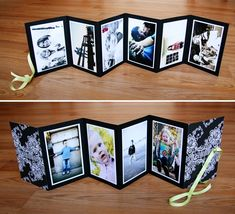 Portfolio Idea - combine with a bookmaking lesson Mini Albums Photo, Mini Photo, Bf Gifts, Craft Gifts, Foto Memory, Tarjetas Diy, Decoration Photo, Diy Cadeau, Diy And Crafts
