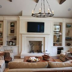 Traditional Living Room Ideas With Fireplace And Tv tv over fireplace ideas | randy's home theater - television and