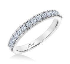 Karl Lagerfeld 18k White Gold Diamond Wedding Band 3/4 cttw