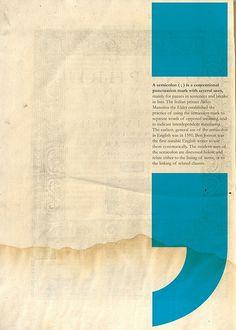 semicolon page design
