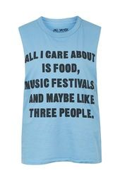 All I Care About Tank Top by Jac Vanek