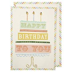 Typographic birthday cake
