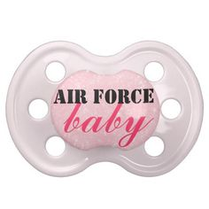 "Airforce baby girl  | Air Force baby"" Girls Patriotic Military Pacifier"