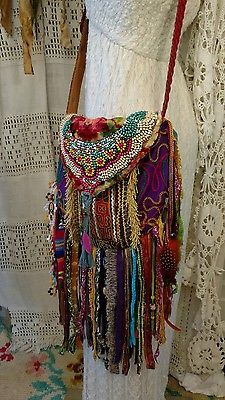Handmade Fringe Ibiza Festival Cross Fringe Body Bag Gypsy Hippie Boho tmyers