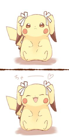 This pikachu is a dude but it's wearing bows and looks like a girl, I won't judge though, even Pokemon should be who they want to be. Pikachu Art, Cute Pikachu, Cool Pokemon, Pokemon Fan, Kawaii Cute, Kawaii Anime, 8bit Art, Pokemon Pictures, Cute Drawings