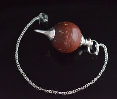 80 Cts Cute Brown Jasper Sterling Silver Plated Pendulam For Healing Energy E458 #valueforbucks