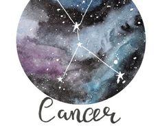 Pisces  Zodiac Constellations Archival Art by sarahfrancesart