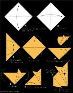 honi mun: DIY... zorro de origami (origami fox)