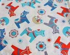 Dala horse fabric!
