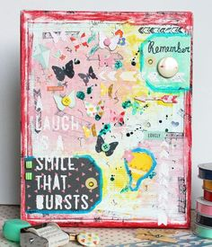 Love this mixed media tutorial by @Angie Gutshall featuring @American Crafts