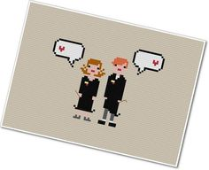 Hermione and Ron love #HarryPotter cross-stitch