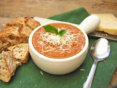 Once Upon a Cutting Board: Roasted Tomato and White Bean Soup