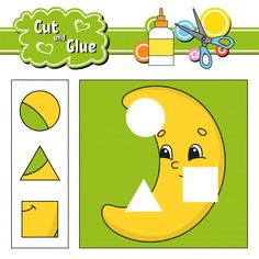 Cut and glue puzzle learning children game with colorful image of a raccoon eating an apple in a wood. wild animals educational activity for kids. Preschool Number Worksheets, Learning Numbers, Preschool Art, Kindergarten Worksheets, Worksheets For Kids, Preschool Activities, Educational Activities For Kids, Book Activities, Silhouette Cameo Free