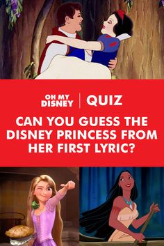 Sure, you can recite Disney Princess lyrics from start to finish. But can you identify the Disney Princess based only on the first thing she sings? Test your Disney trivia knowledge and share your results!