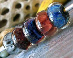 Eyes in the Dark... AGB boro glass lampwork beads