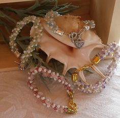 Beaded Kumihimo Bracelets braided with freshwater pearls, gemstones, and Czech crystals--the perfect gift for any member of your bridal party!  Add an appropriate charm (we have several choices for you) to personalize the ideal memento of your special day!