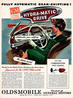 Original 1945 Oldsmobile Hydra-Matic Drive Car Ad