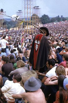 """31 Pictures That Show Just How Crazy Woodstock Really Was: Max Yasgur, the farmer who owned the land, spoke about the peaceful atmosphere: """"If we join them, we can turn those adversities that are the problems of America today into a hope for a brighter and more peaceful future…"""""""