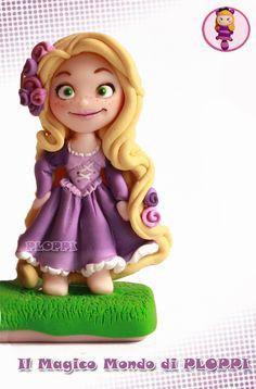 Tangled Rapunzel Fimo Clay by Ploppi by ~MagicoMondoDiPLOPPI on deviantART