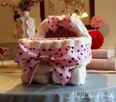 Diaper Cake Bassinet