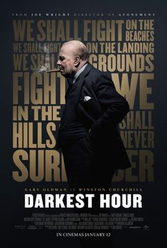 Gary Oldman is Winston Churchill in this remarkable biographical drama. Search film times and book your tickets for Darkest Hour online today. 2018 Movies, Hd Movies, Film Movie, Movies To Watch, Movie Scene, Kristin Scott Thomas, The Shape Of Water, Holland, Recent Movies