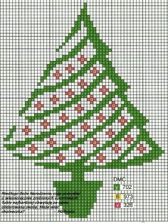 39 ideas embroidery christmas tree pattern cross stitch for 2020 Xmas Cross Stitch, Cross Stitch Cards, Cross Stitch Borders, Cross Stitch Designs, Cross Stitching, Cross Stitch Embroidery, Embroidery Patterns, Cross Stitch Patterns, Christmas Tree Pattern