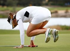 Sandra Gal Photos - Sandra Gal of Germany reacts to a missed putt on the 14th hole during the final round of the CME Group Tour Championship at Tiburon Golf Club on November 23, 2014 in Naples, Florida. - CME Group Tour Championship