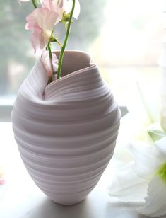 Image of Metamorphosis Vase, Pale Pastel Mauve, - Pottery Porcelain Ceramics, Ceramic Mugs, Ceramic Art, Fine Porcelain, Painted Porcelain, Porcelain Jewelry, Ceramic Bowls, Stoneware, Hand Painted