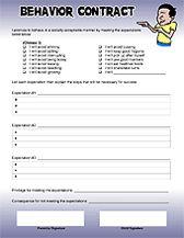Free Behavior Contracts!  Parenting tools!
