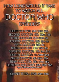 ha ha im almost there!!! still watching classic who on netflix but i am all the way through recent series doctor who