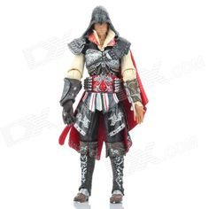 Brand: NECA; Model: LYH3007; Quantity: 1 piece(s) per pack; Color: Black,Red; Material: Plastic; Anime/Movie: Assassin's Creed; Character: Ezio; Other Features: Joints adjustable; Well-sculpted and painted; Great collection for fans of Assassin's Creed; Packing List: 1 x Ezio Figure; http://j.mp/1pgl7fs