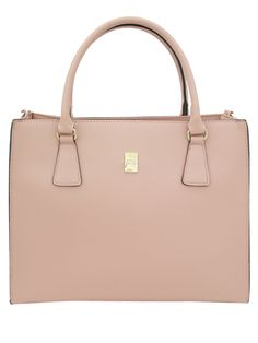 Faux Leather Chic Pink Tote Bag | Korean Fashionista