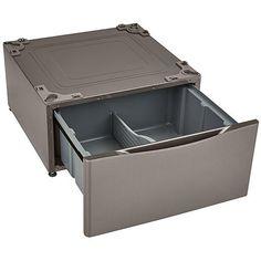 "Kenmore 13.7"" Laundry Pedestal w/ Storage Drawer - Metallic Silver 2"
