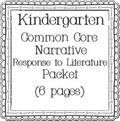 Teacher Time Savers: great ideas for all modes of writing in kindergarten- graphic organizers, assessment pages, etc.