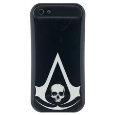 Assassin's Creed 4 Black Flag Logo iPhone 5 Hybrid Phone Case ($12) ❤ liked on Polyvore featuring accessories, tech accessories, electronics and phone cases