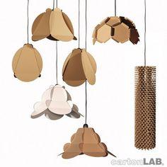 Lámparas de cartón. Ecología, economía y diseño.