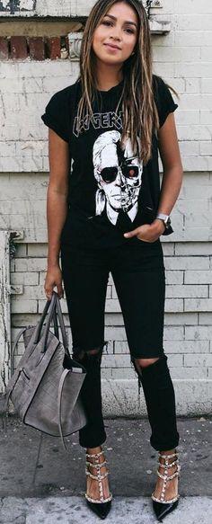 Karl Lagerfeld Tee + Black