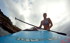 Stand up Paddle avec Tinina Etienne Stand Up Paddle, Sup Paddle, Basketball Court, Lifestyle, Outdoor Decor, Urban Bike