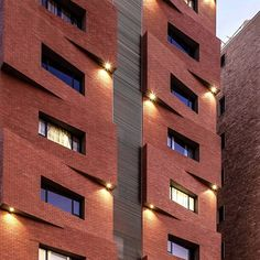 bricks facade. I love the ilumination