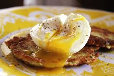 My Inner Granny: Zucchini Cakes With A Poached Egg